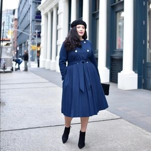 Girl with Curves x Lane Bryant Navy Trench Coat